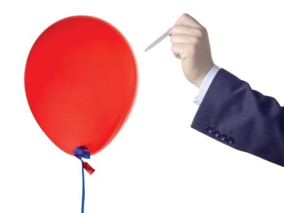 sprekk ballongen